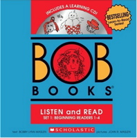 Bob Books Set 1 : Beginning Readers Level 1-4 + CD