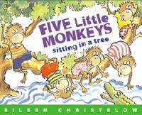 Five Little Monkeys Sitting in a Tree (Book & CD)
