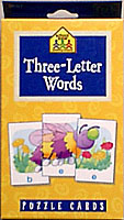 Three Letter Words-Puzzle Card